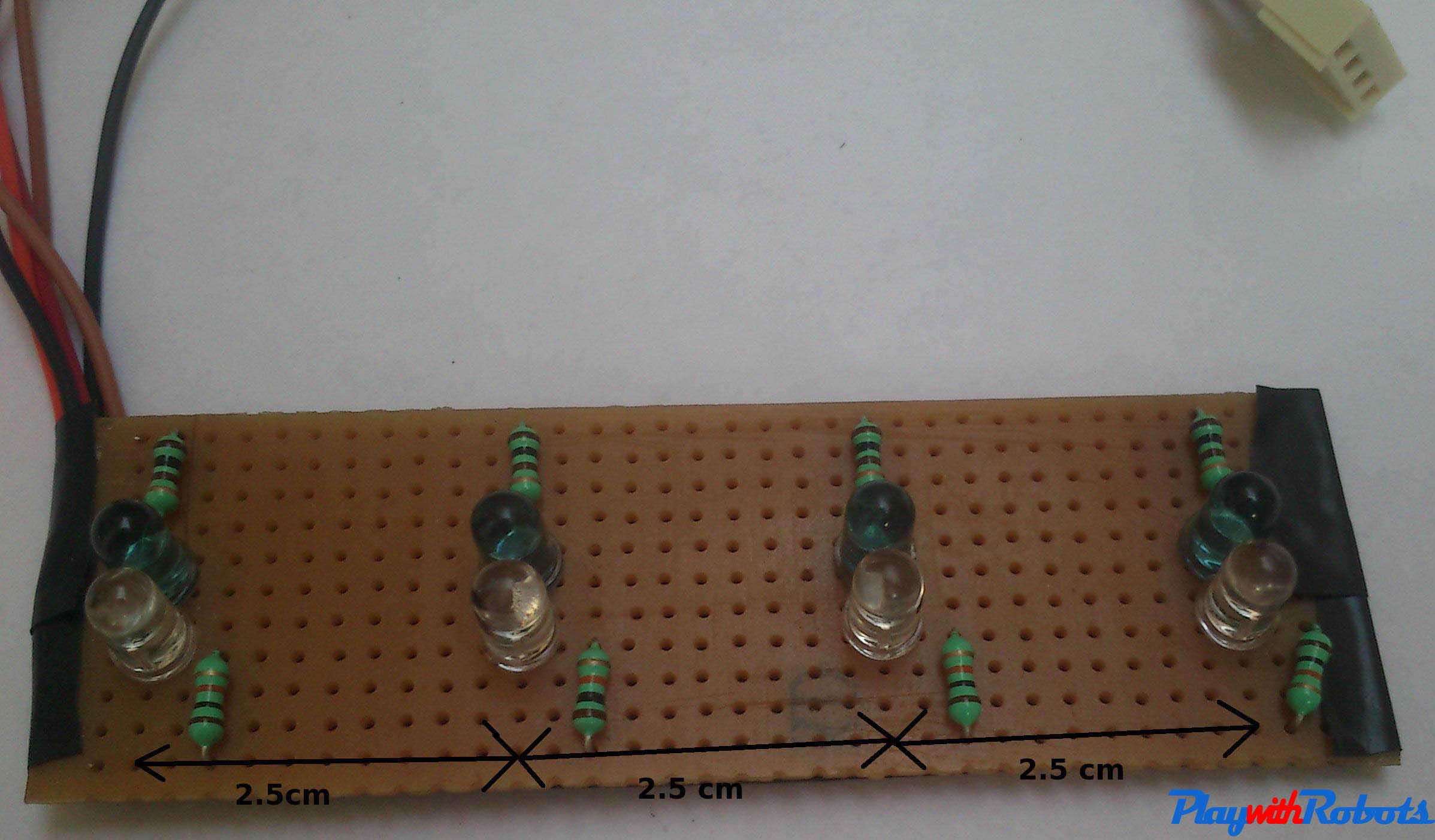 Advance Line Follower Robot Above Circuit Is The Pair Of Irled And Photo Diode To Detect Soldered