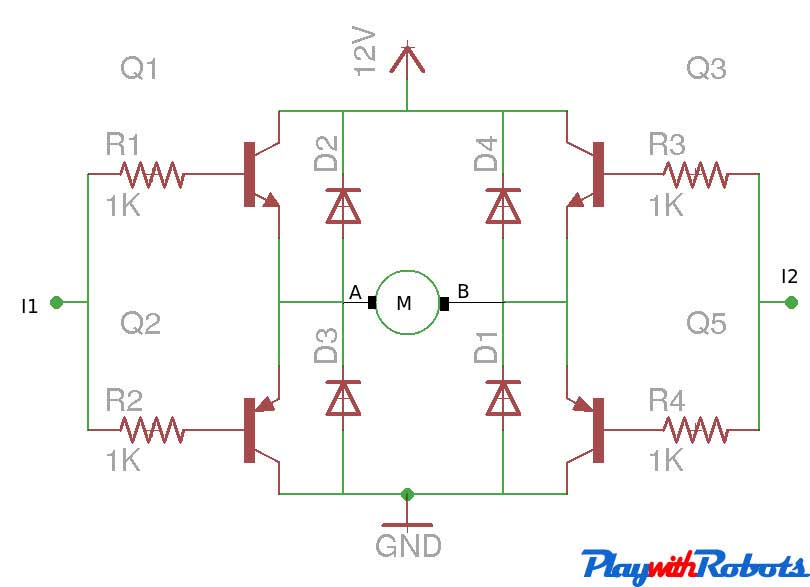 DCMotor Driver Circuits - Relay Circuit With Transistor