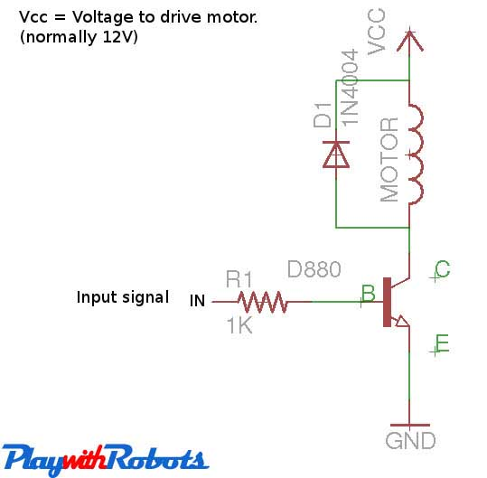 One direction motor control
