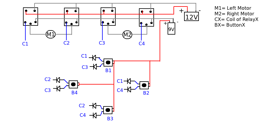 wired relay remote circuit diagram top view
